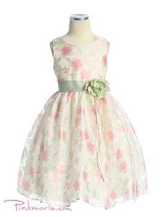i love a patterned dress for the flower girl
