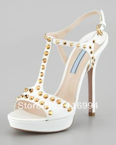 2014 new fashion and sexy women white leather dress sandals women high heels sandals size 35--43