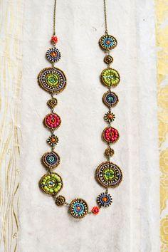Medium length Multi-coloured Maasai beadwork necklace. by RedTribeBeadwork on Etsy https://www.etsy.com/listing/201315417/medium-length-multi-coloured-maasai