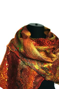 Nuno Felted Scarf | Superfine Australian merino wool, mulber… | Flickr