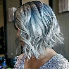 Denim hues: Women are dying their hair to replicate 'denim' using blues, lilac and grey