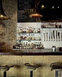 New Rustic Restaurant Seating Bar Designs Ideas