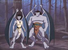 Angela and Goliath from Disney's Gargoyles season 2 episode: Heritage