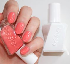 you got in, naturally. one wave of your prolific tangerine coral fingers and velvet ropes disappear. they always do. 'on the list' from the new essie gel couture 'fashion show' collection.