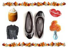 Fall Must-Haves on the #blog! #fall #autumn #flats #shoes #pumpkin #dahlias #berrylips #lipstick #balletflats #houndstooth