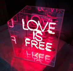 Love Is Free! Neon by artist Kristin McIver Neon Light Signs, Neon Signs, Neon Quotes, Neon Words, Light Quotes, All Of The Lights, Neon Aesthetic, Love Is Free, Neon Lighting