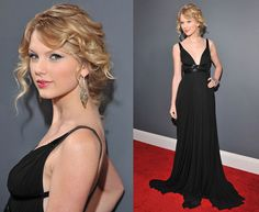 Taylor Swift in Kaufman Franco at 2009 Grammy Awards
