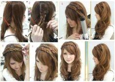 Braid tutorial hair