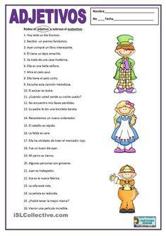 English PLE Adjetivos apostilas - Mais baixados Results) Spanish Grammar, Spanish Language Learning, Spanish Teacher, Spanish Classroom Activities, Spanish Teaching Resources, Portuguese Lessons, Learn Portuguese, Spanish Lesson Plans, Spanish Lessons