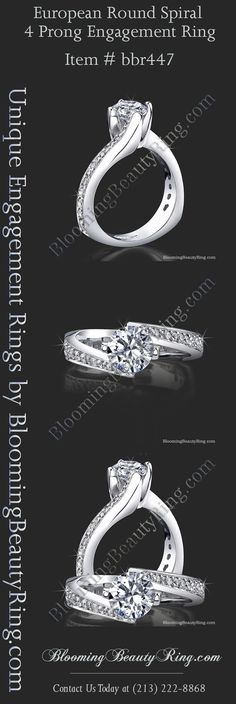 Hand-Made designer engagement ring by BloomingBeautyRin. Engagement Ring Photos, Designer Engagement Rings, Vintage Engagement Rings, Diamond Wedding Rings, Bridal Rings, Diamond Engagement Rings, Pretty Rings, Beautiful Rings, Chanel Pearls