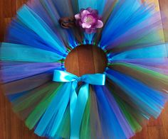 Peacock PrincessTutu/Headband Set Size 12-18 Month Royal Blue, Turquoise, Chocolate, Emerald Green, Purple Princess Party Skirt Photo Prop Purple Princess Party, Party Skirt, Future Children, Birthday Fun, Faeries, Emerald Green, Photo Props, Peacock, Royal Blue