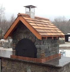 Built by Gagne & Son.. an Authorized BrickWood Dealer in Maine. This is a BEAUTIFUL combination of our Mattone Barile Grande form and a couple of Great masons!  BrickWoodOvens.com