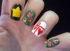 Alice in Wonderland, Queen of Hearts nails by Holy Manicures