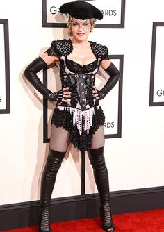 Madnnona wore this extravagent Givenchy look to the 2015 Grammys