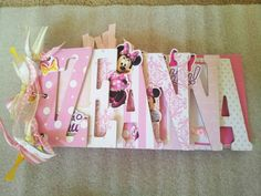Minnie Mouse Name Album/Guest book by ajzdelights on Etsy, $40.00