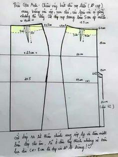 chart chân váy bút chì