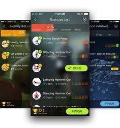 PlayWellness iPhone app on App Design Served