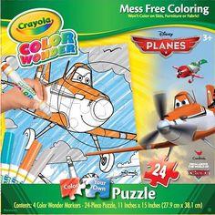 """Crayola Color Wonder Boys Puzzle - #Planes -  Cardinal Games - Toys""""R""""Us #Crayola"""