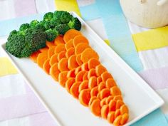 Vegetable Carrot - what a creative way to display your vegetable tray at Easter.