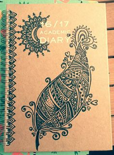 Drawing a16/17 Academic Diary for my sister. *Mandala style*