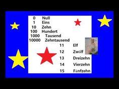 NULL UND FÜNFZEHN GERMAN ЦИФРЫ NUMBERS УЧИМ