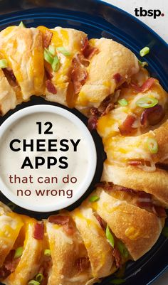 You'll never go wrong by giving the people what they want. (And what they want are cheesy, oeey-gooey appetizers.)