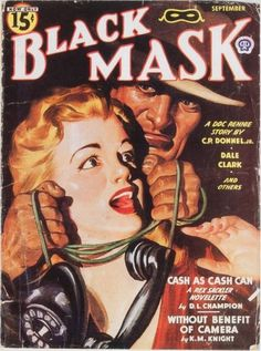 From September, 1944, this Black Mask cover was illustrated by Rafael DeSoto (1904-1992).