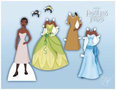 Animation enfants - Poupée Tiana (2) en carton à habiller