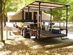 2011 20 ft Better Built Trailer with a 2010 Flagstaff pop-up camper mounted