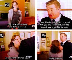"""I trusted you!"" Liz Lemon - 30 Rock"