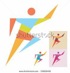 Running Man - Sport Logo Sign