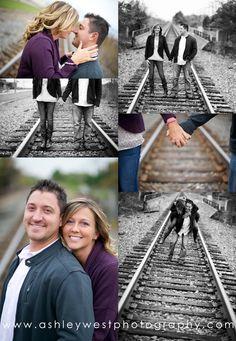 Engagement Photography Railroad Tracks www.ashleywestphotography.com