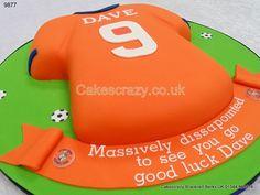 Luton Town FC Football Shirt Cake http://www.cakescrazy.co.uk/details/luton-town-fc-football-shirt-cake-9877.html