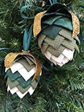How to make quilted no-sew holiday Christmas ornaments. No-sew ornaments to make for Christmas. Quick and easy ornaments with no sewing