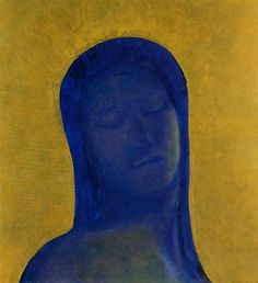 Odilon Redon, Closed Eyes on ArtStack #odilon-redon #art