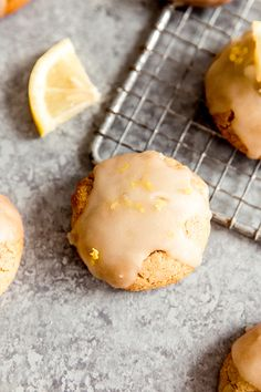 These paleo lemon cookies are made with all real ingredients and heart-healthy olive oil! They're the perfect sweet and tart treat to enjoy as a simple dessert. Paleo Cookies, Lemon Cookies, Cookie Recipes, Paleo Recipes, Baking Recipes, Paleo Dessert, Dessert Recipes, Lemon Desserts, Easy Desserts