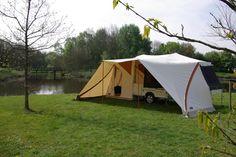 Half trailer, half tent  http://www.holtkamper.com/en/flyer/