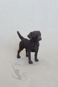 Chocolate Labrador Custom Needle felted big by AnnaRyasnova