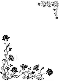 Wunderbar Flower Borders Black And White Flower Borders, Beautiful Bouquet Of  Flowers, International School,