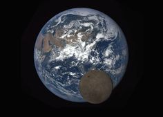 Moon Photobombs Earth Again    For only the second time in a year, a NASA camera aboard the Deep Space Climate Observatory (DSCOVR) satellite captured a view of the moon as it moved in front of the sunlit side of Earth.