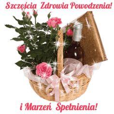 GIFY I OBRAZKI: ŻYCZENIA URODZINOWE Wicker Baskets, Picnic, Decor, Frame, Nighty Night, Polish, Cards, Picture Frame, Decoration