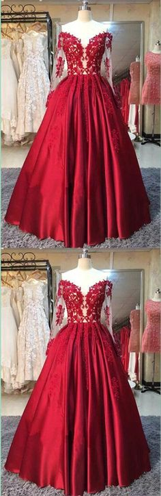 Ball Gown Prom Dresses,prom dresses with sleeves,red prom dresses,lace prom dresses,satin prom dresses,princess dresses,princess prom dresses,evening dresses,modest prom dresses,party dresses,women dresses,off the shoulder prom dresses