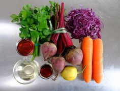 ingredients for my winter slaw, recipe on my blog...