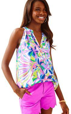 Bailey Sleeveless Silk Top