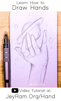 How to Draw Hands: Video Tutorial + Free Worksheet
