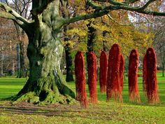 Ghostly art in nature by 2composers, via Flickr - Love the red, ideas!