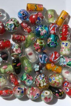 lamppuhelmiä - lamp beads Bead Jewelry, Glass Beads, How To Make, Design, Beaded Jewelry, Pearl Jewelry, Seed Bead Jewelry