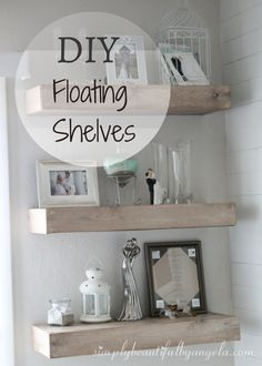 We finally finished the floating shelves this weekend! Last Monday I shared how we started building these beauties (click here) .   As prom...