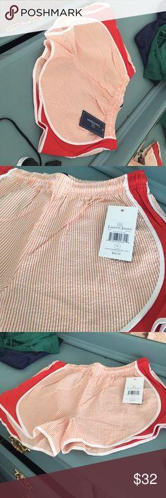 Brand new Lauren James  seersucker shorts Brand new Lauren James orange and White seersucker shorts Vineyard Vines Shorts
