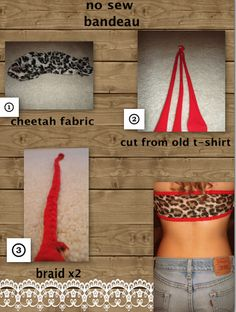 Braid extra fabric then sew on instead of small finished edge. Cut Shirt Designs, Trash To Couture, Sewing Crafts, Diy Crafts, Do It Yourself Fashion, Diy Wardrobe, Diy Tops, Extra Fabric, Old T Shirts